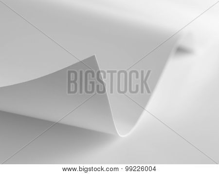 Paper Corner Curved And Curled - Stock Image