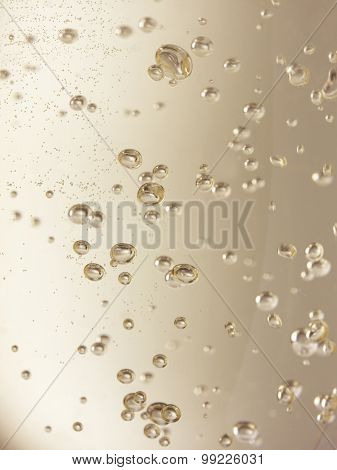 Champagne Bubbles Full Frame - Stock Image