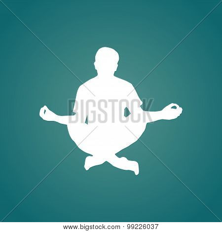 Meditation silhouette illustration