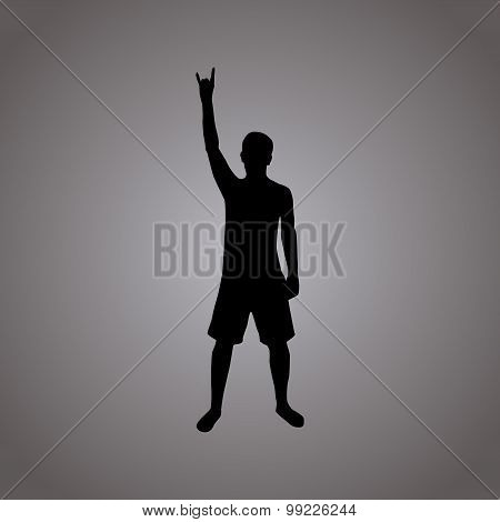 Rock silhouette illustration