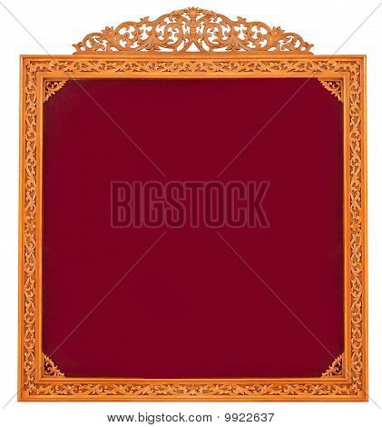 Blank red board isolated on white background