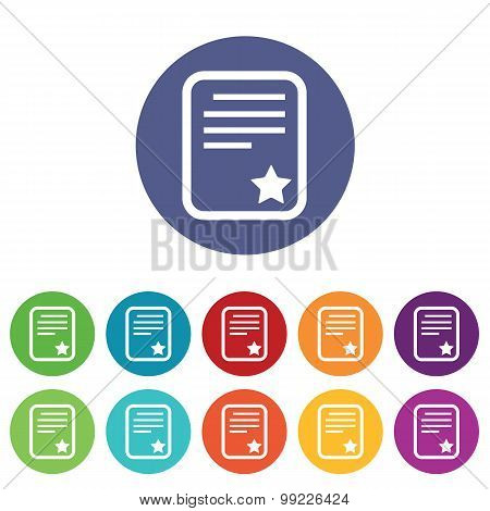 Best document icons colored set