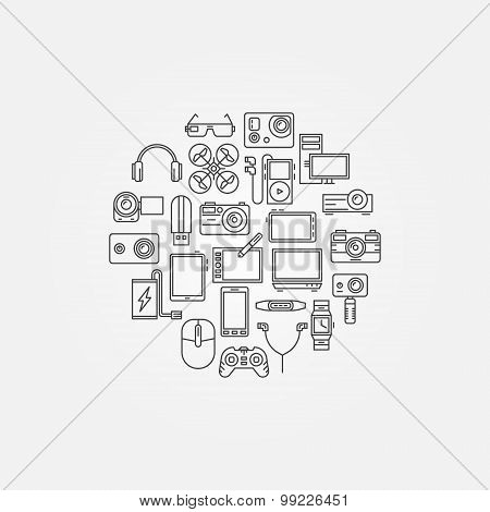 Gadgets vector illustraion