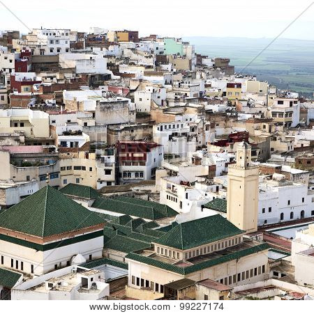 Constructions From High In The       Village    Morocco Africa Field And  History