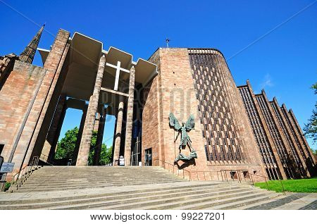 Coventry Cathedral entrance.