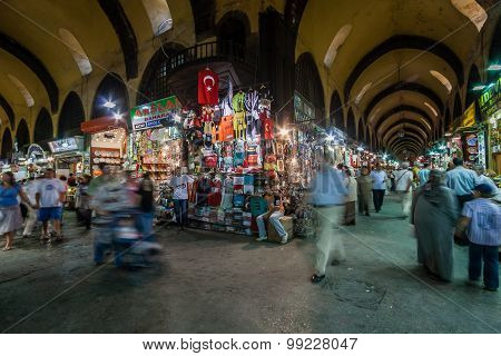 People Shopping In The Grand Bazar In Istanbul, Turkey