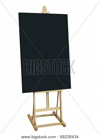 Mock Up  Blackboard With Wooden Stand Isolated Shop