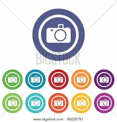 Camera signs colored set
