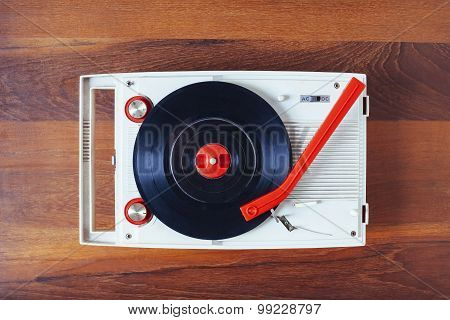 Vinyl Record Player Vintage Retro Object