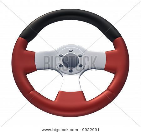 Red Racing Wheel