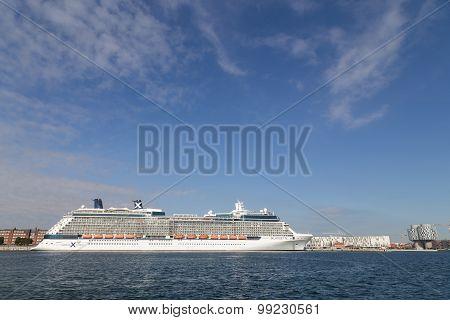 Cruise ship Copenhagen harbour
