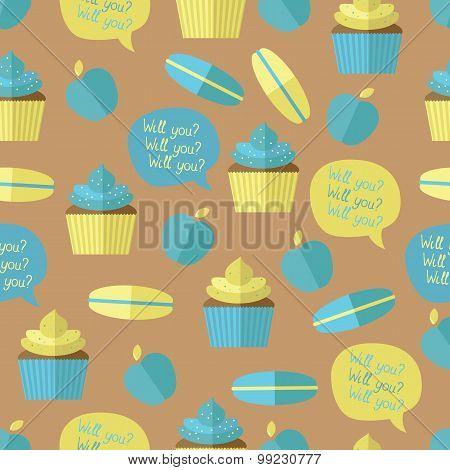 Pattern Of Desserts.