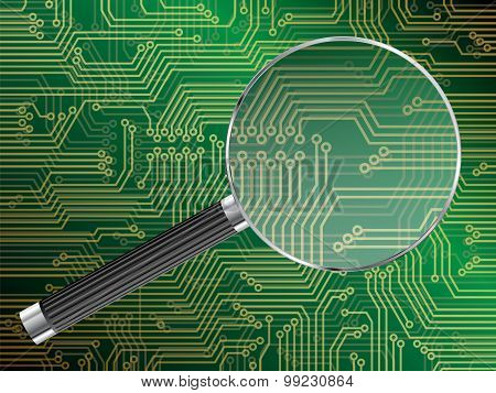 Magnified Circuit Board