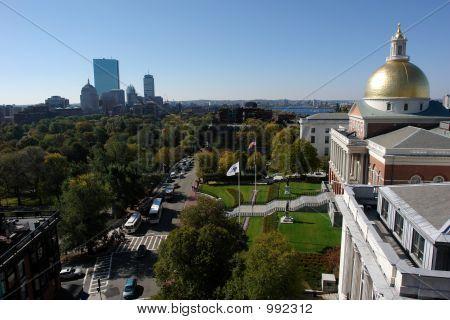 Casa do estado de Massachusetts em Boston em Beacon Street