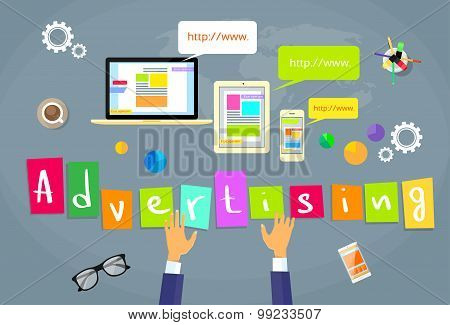 Online Advertising Internet Web Creative Concept