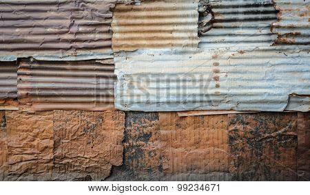 Corrugated Wall Pattern Background