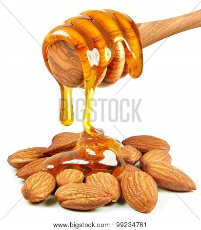 Almond nuts and honey
