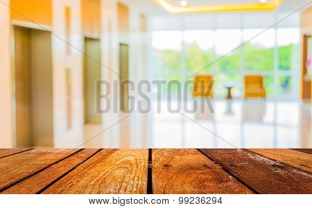 Blur Image Of Hospital Office Room