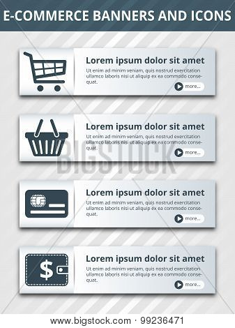 E-commerce Banners And Icons