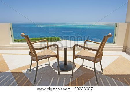 Sea View From The Balcony Of A Luxury Resort