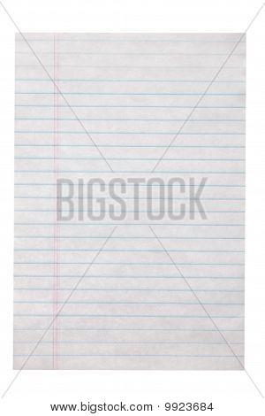 Single Sheet Notepad Page