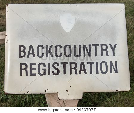 Backcountry Registration Book
