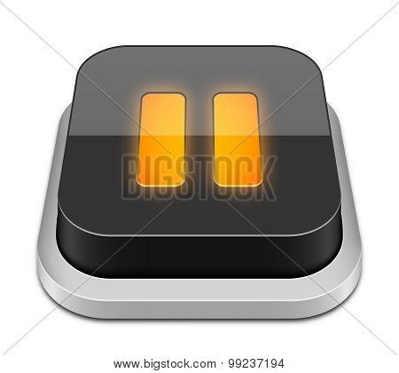 Pause Button Icon, Vector Illustration