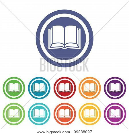 Book signs colored set