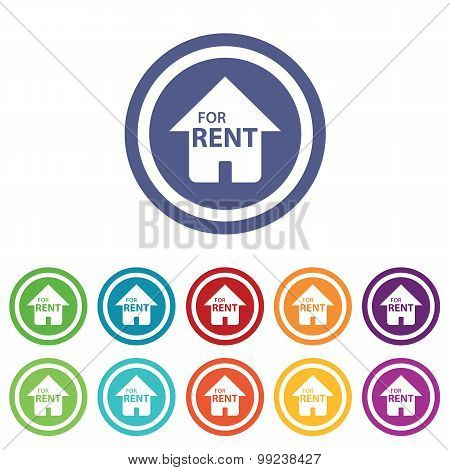 Rental house signs colored set
