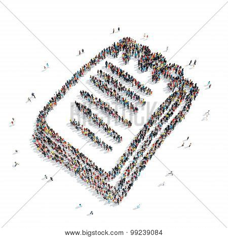 group people shape  notes cartoon