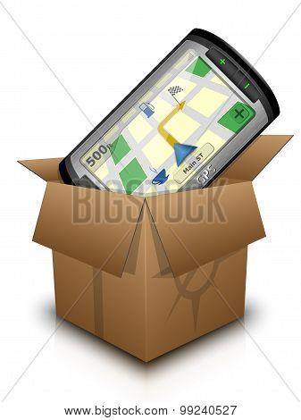 Gps Navigator In The Box