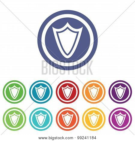 Shield signs colored set