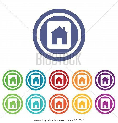 House plate signs colored set