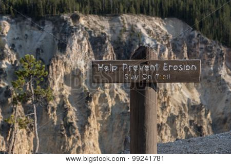 Help Prevent Erosion Sign