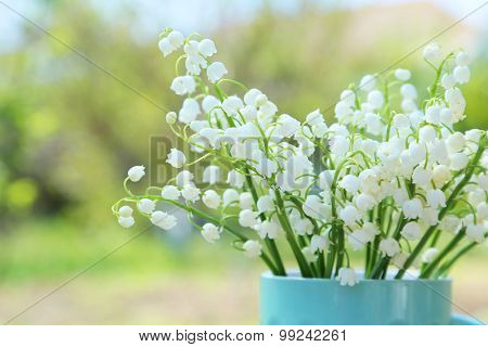Lily Of The Valley In Cup, Outdoors