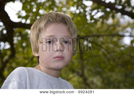 Boy With Sad Look