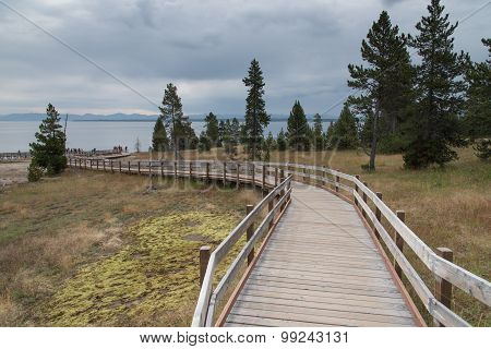 West Thumb Geyser Basin Boardwalk