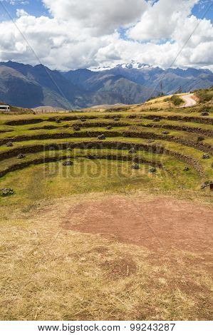 Inca Agricultural Terraces in Moray, Peru