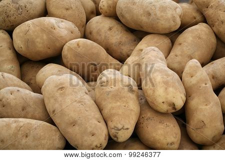 Potatoes on sale at farmer's market