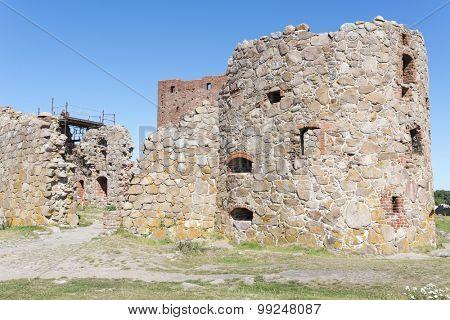 Hammershus castle ruins on Bornholm island, Denmark