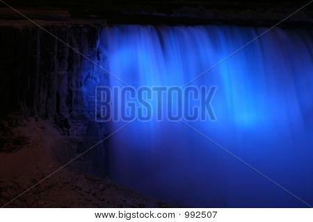 Niagara Falls At Night With Lights