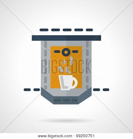 Flat vector icon for coffee making