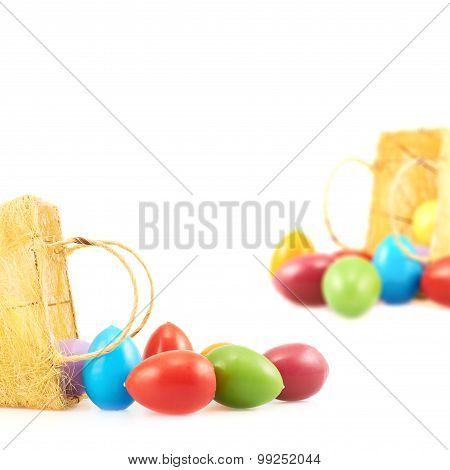 Egg candles out of the basket