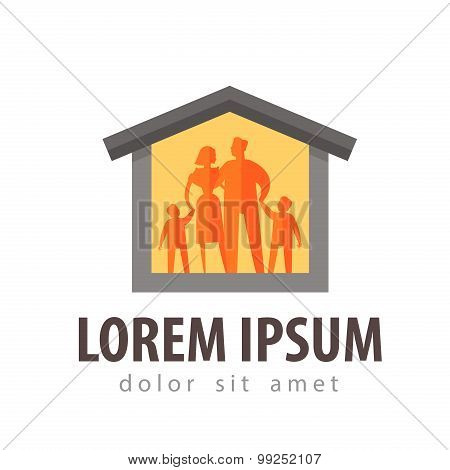 house vector logo design template. family or own home icon