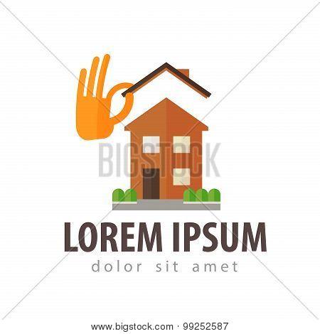 construction, building vector logo design template. villa, townhouse, cottage or house icon