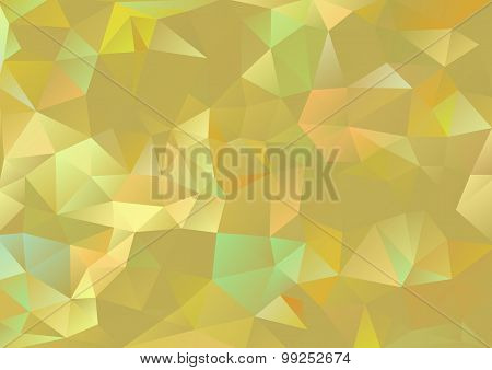 Cubism background Gold and pale multicolor