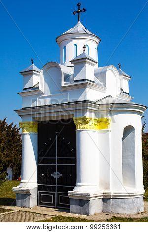 Small Religious Building At Saint Nicholas Church In Brasov , Transilvania