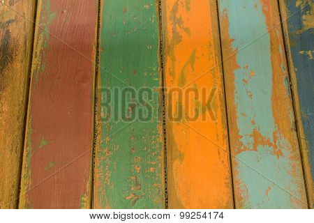 Texture of colorful boot plank