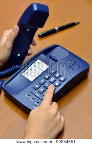 Hand calling telephone (Business concept, meeting, calling)