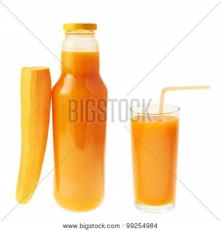 Carrot juice composition isolated